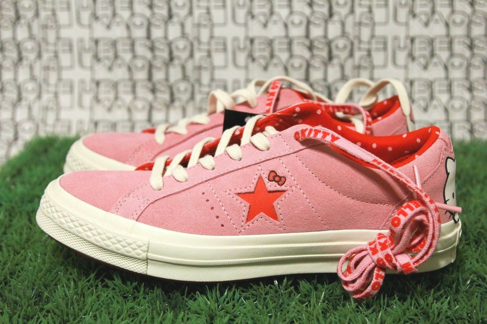 Converse Hello Kitty one star ox ox ox all high low rot Rosa lift ctas Men 7,damen 9 e2cc9c