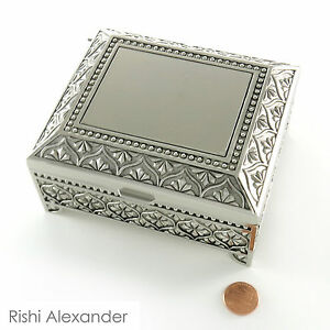 Monogrammed Personalized Jewelry Boxes Velvet Lined Free Engraving