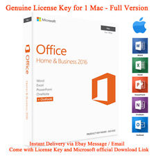 Microsoft Office 2016 for Mac Home and Business License Key