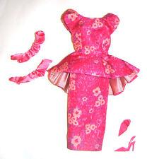Barbie Doll Sized Silkstone Fashion Floral Print Dress For Barbie Dolls ske48