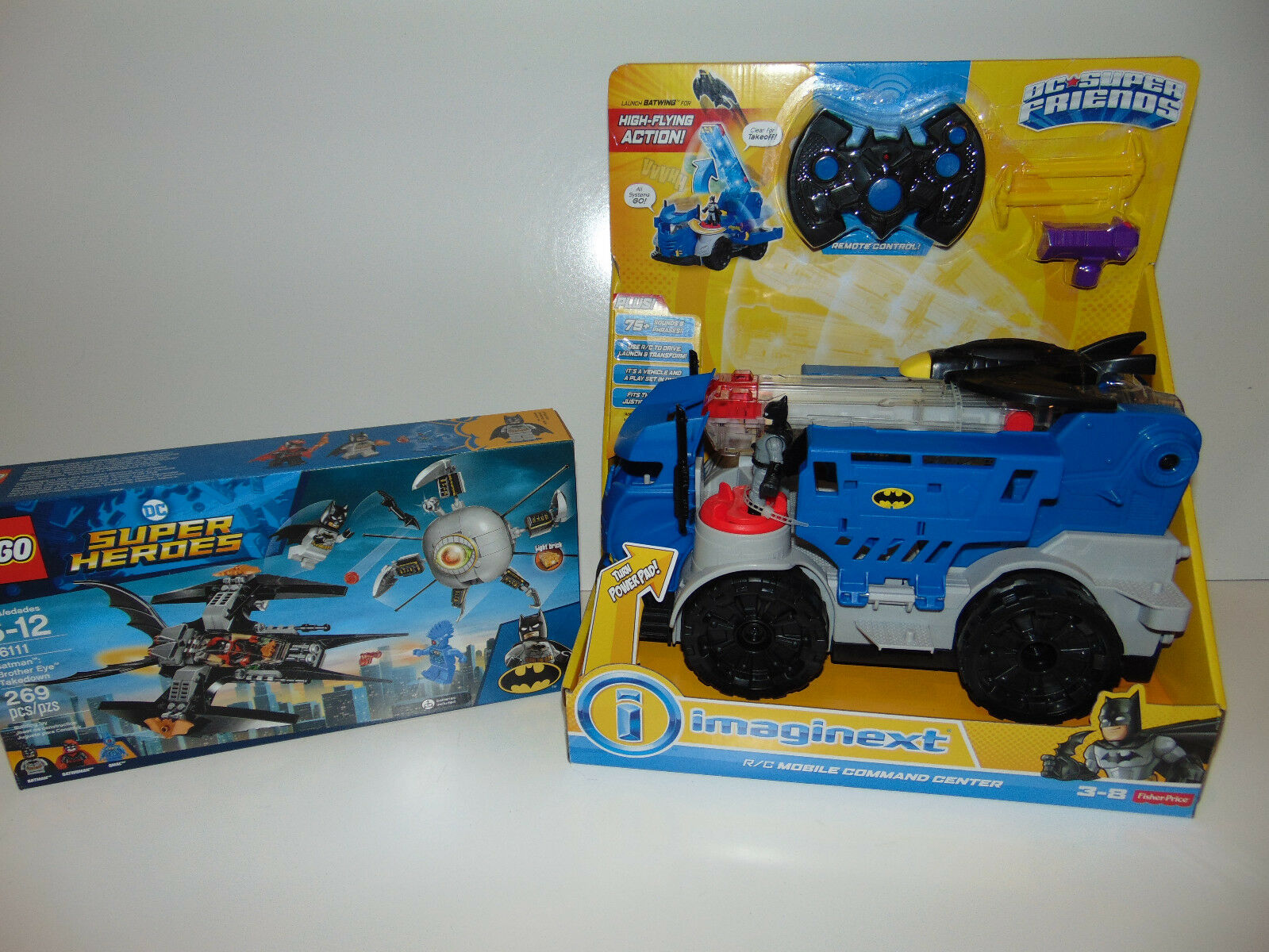Fisher Fisher Fisher Price Imaginext R C Mobile Comnand Batman Launch Remote + LEGO 76111 NEW 947777