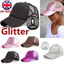 Men Ladies Ponytail Baseball Cap Snapback Summer Women Sun Sport Mesh Hat UK
