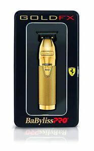 BaByliss PRO Hair Trimmer FX787G GOLDFX Skeleton Outlining T-Blade Barber NEW