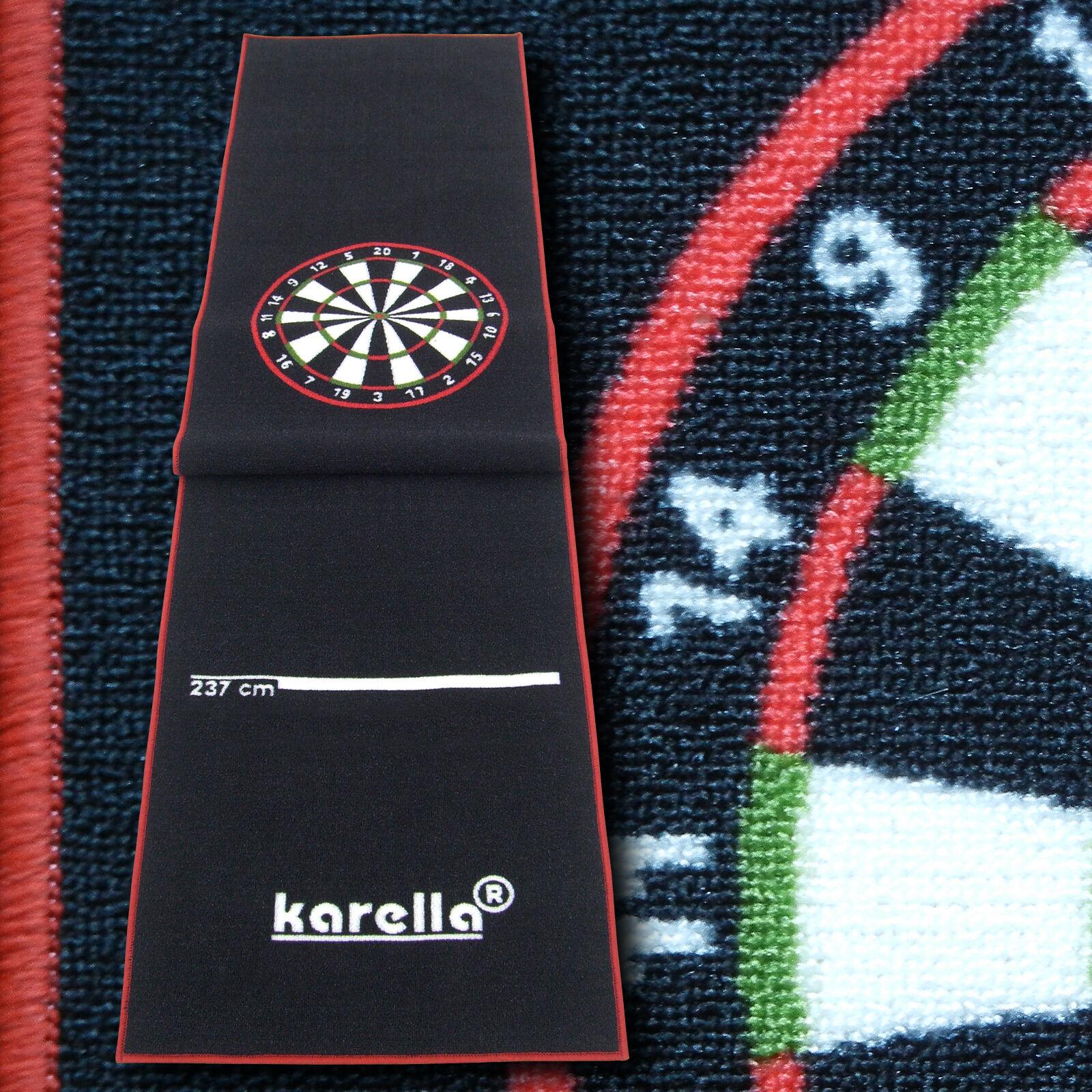 Karella Premium Velour Velour Velour Dartteppich mit offiziellen Oche-Abmessungen adf30a