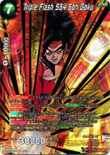 BT4-003 Special Rare Near Mint SPR Triple Flash SS4 Son Goku