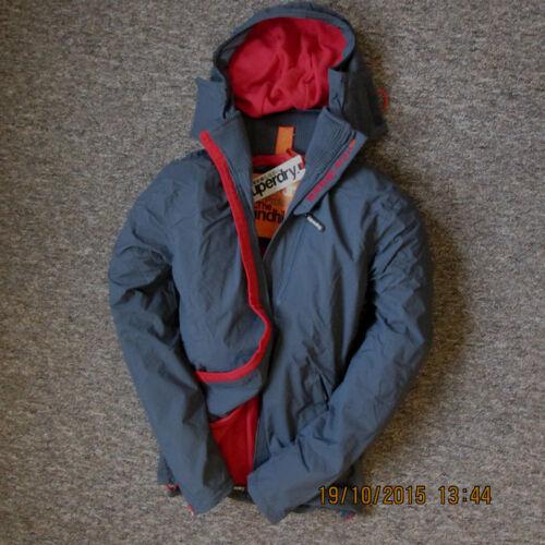 NUOVO Superdry Giacca da Uomo Cappotto Taglia M Medium con cappuccio Polar windhiker Foderato in Pile