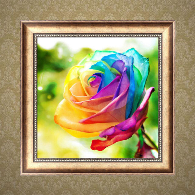5d DIY Rainbow Rose Embroidery Diamond Painting Cross Sch Kits ... Rainbow Golf Cart Embroidery on rainbow tree, rainbow company, rainbow crane, rainbow golf,