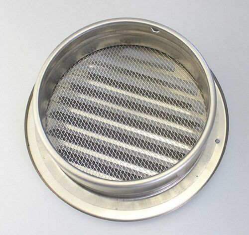 304 Stainless Air Vent Grille Ducting Wall Ventilation Filter Cover OD 80 to 200