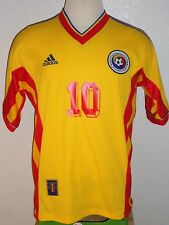 VTG ADIDAS ROMANIA HAGI FRANCE SOCCER JERSEY FOOTBALL SHIRT REAL MADRID STEAUA