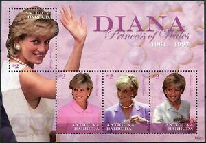 Antigua 2010 Sg#ms4281 Diana Princess Of Wales Neuf Sans Charnière M/s #d87491-afficher Le Titre D'origine
