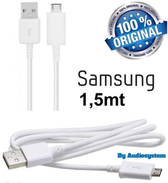 CAVO CAVETTO MICRO USB ORIGINALE SAMSUNG 1,5METRI PER S2 S3 S5 MINI DATI RICARIC