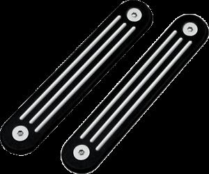 Pro-One Pro 1 Black Ball Milled Turn Signal Eliminators Harley Batwing 06-18 FLH