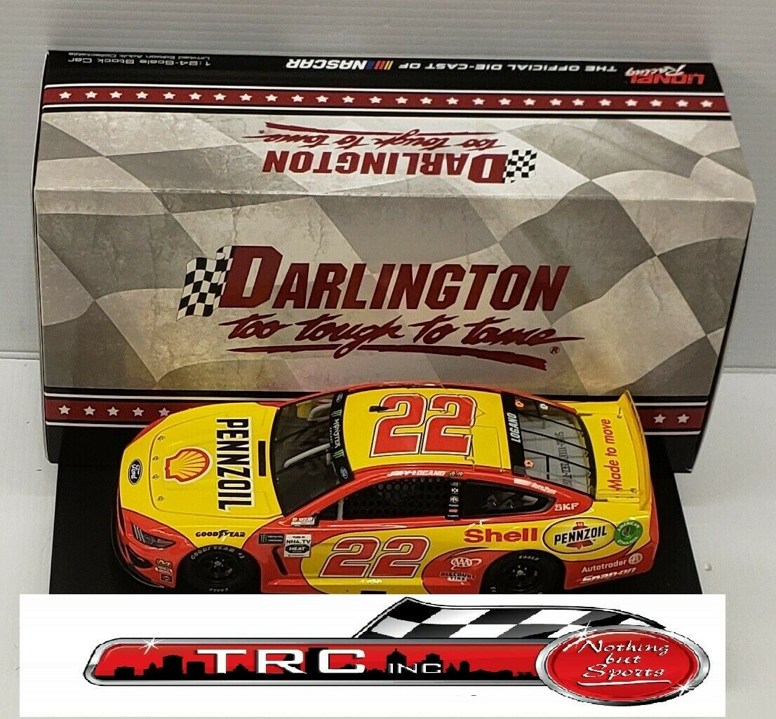 Joey Logano 2019 Lionel  22 Shell Pennzoil Darlington Throwback 1 24 FREE SHIP