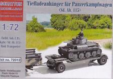 Schatton 1/72 tiefladeanhanger Fur remolque tanque Panzerkampfwagen (Sd.Ah.115)