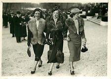 PHOTO PRESSE LUMIERE - 020616 - 1937 la mode à AUTEUIL hippodrome course