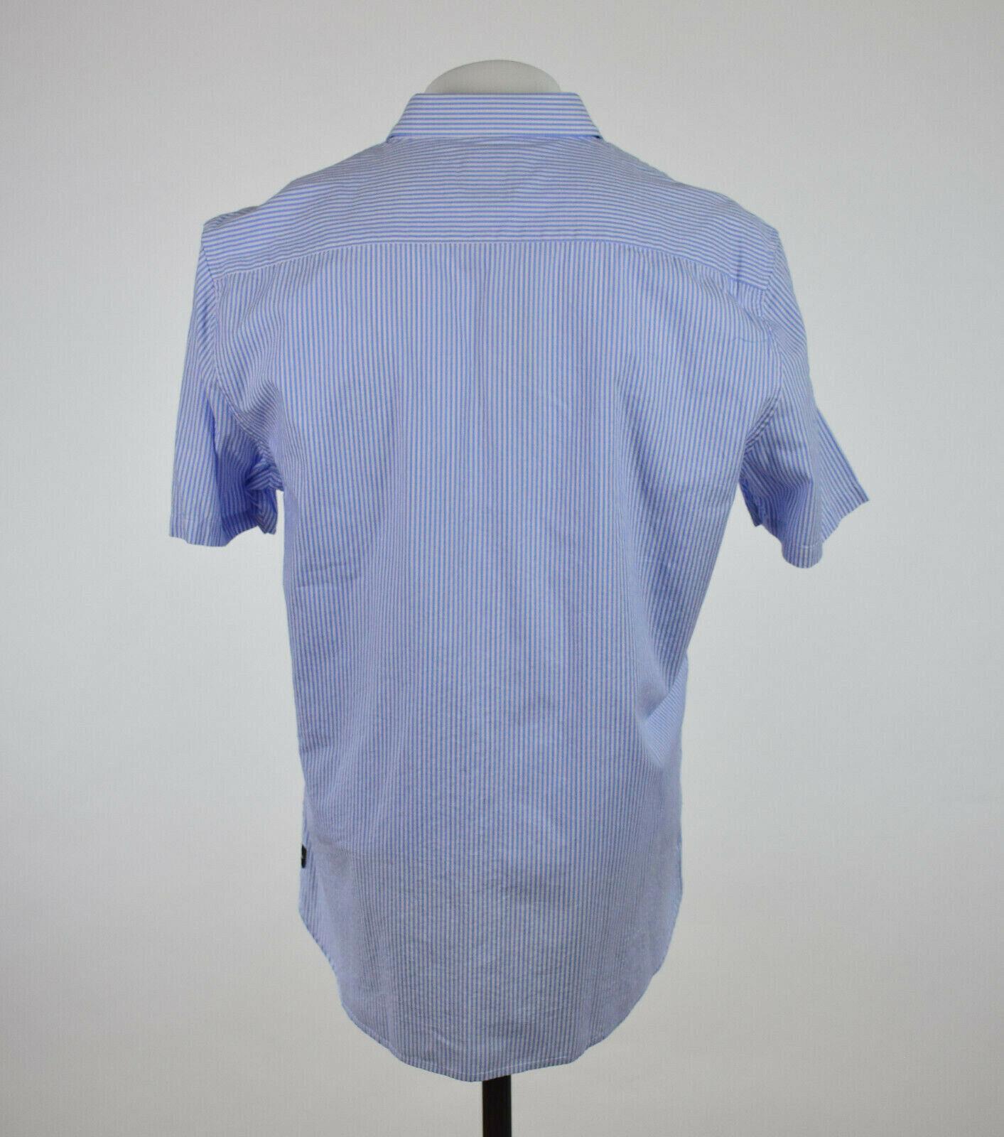 Barney Cools Herren Hellblau Hellblau Hellblau Gestreift Kurzärmelig Button-Down Hemd S M L XL | Zu verkaufen  | Auf Verkauf  0f46e9