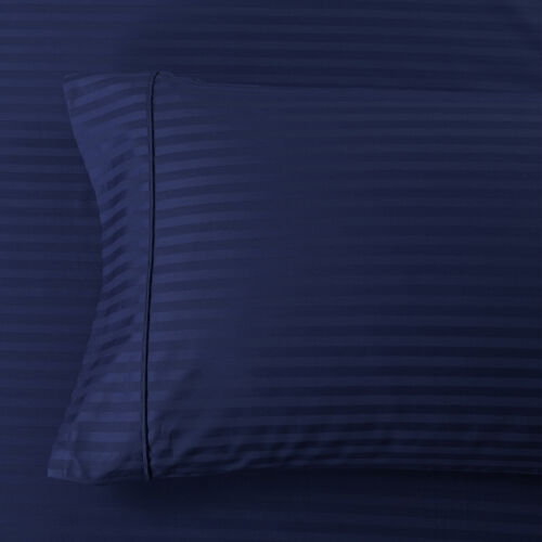 Amazing Comfort Pillowcases 300 Thread Count Striped Combed Cotton Pair