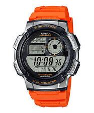 Casio Digital Men's Watch, 100M, 5 Alarms, Chronograph, Resin, AE1000W-4BV