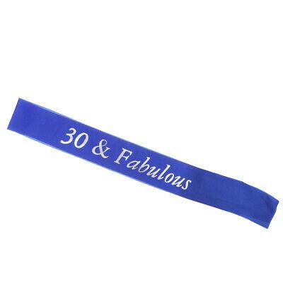 Gilding 30 40 50 60 70 80 and Fabulous Birthday Satin Sash Shoulder Strap Belt