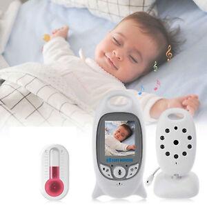 VIDEO BABY MONITOR AUDIO WIRELESS SENZA FILI COLORI LCD LED CONTROLLO NEONATO