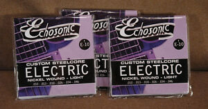 Echosonic Electric Guitar Strings .010 - .046 Nickel wound 3 Sets