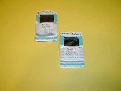 Embroidery Hemming Hand Sewing Needles 12 Pkgs of 20 Size 3//9 Cotton Darners