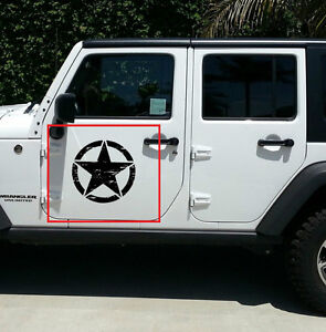 Image is loading 2-Decal-sticker-for-Jeep-wrangler-RUBICON-Army-
