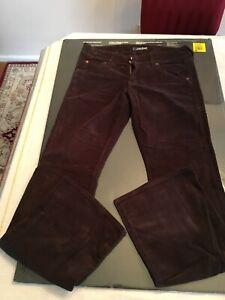 fondo in coste a Jeans con Hudson velluto svasato marrone 30 Sz I0wwp5