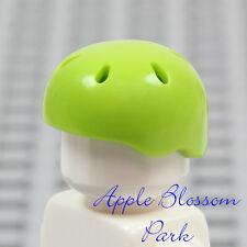 LEGO Skate Board Minifig LIME GREEN HELMET -Boy Bicycle/Bike Sport Head Gear Hat