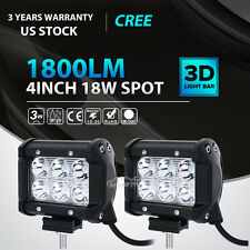 2pcs 4inch 18W CREE LED Work Light Bar 4WD Offroad Spot Fog ATV SUV Driving Lamp