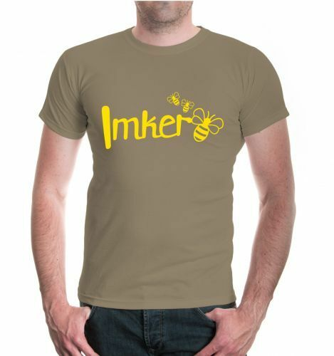 Imker T-Shirt Bienenzüchter Honig Honigmann Bienenvolk Bienenwabe Imkereibedarf