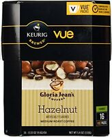 Keurig Gloria Jean's Coffee Hazelnut Vue Pack - 16 Count 0.33 Oz, New, Free Ship on sale