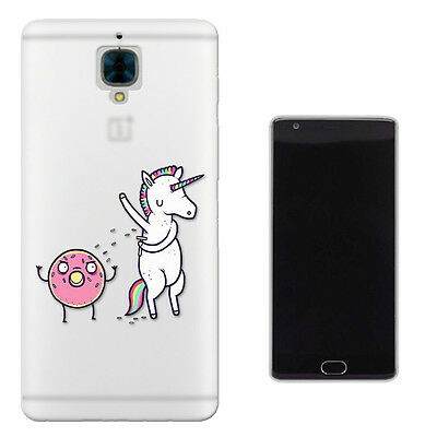 C697 Unicorn Doughnut Case Cover For OnePlus One 1 Two 2 X Oneplus 3