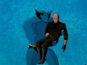 X-Men-Production-Cel-Marvel-1992-Animated-Series-S33-Beast-scoops-up-Professor-X