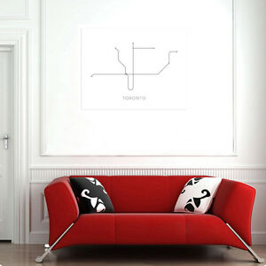 Toronto Subway Map Poster.Details About Time4art Metro Subway Map Print Toronto Art Print Giclee Wall Decor Poster