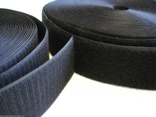 schwarz 20mm Flausch+Haken 25 Meter Klettband