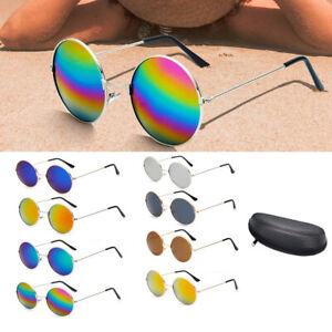 Retro-Vintage-Sunglasses-Men-Womens-Hippie-John-Lennon-Round-Eyewear-Sun-Glasses