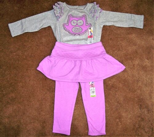 SKIRT /& LEGGINGS WITH OWL NEW WITH TAGS INFANT BABY GIRL/'S CUTE TWO PIECE TOP