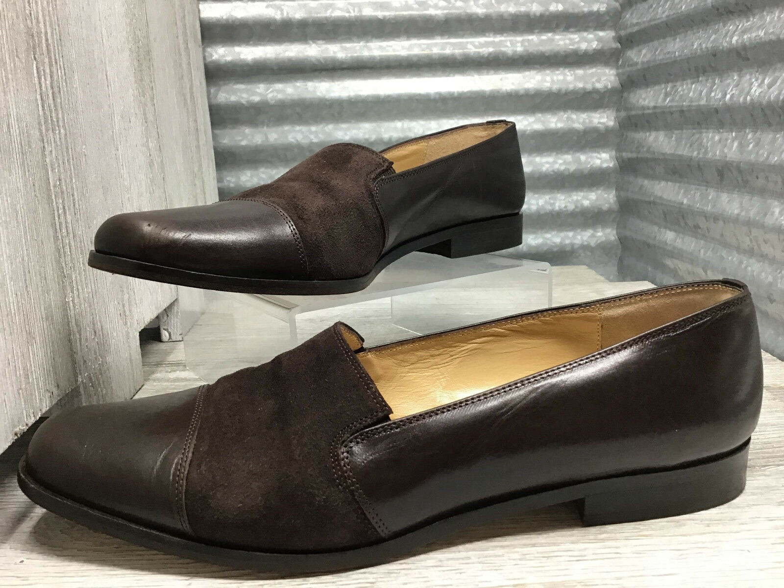 Classiques Entier Brown Leather Loafer Captoe Women's Size 8 Made in