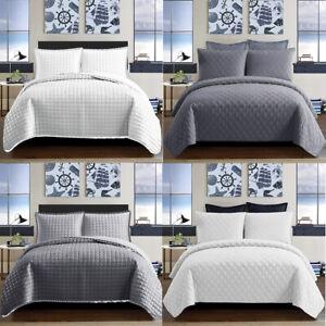 Colcha-de-3-piezas-Juego-de-cama-de-cama-acolchado-lanzar-en-relieve-solo-doble-King-Size