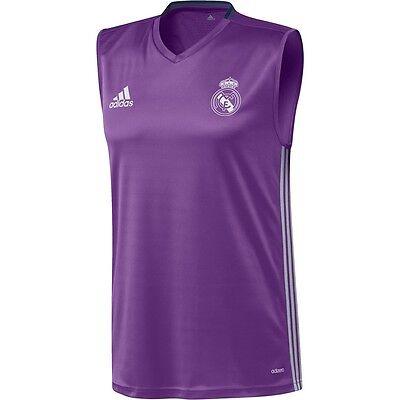 adidas Real Madrid FC 2016 - 2017 Sleeveless Training Soccer Jersey Purple | eBay