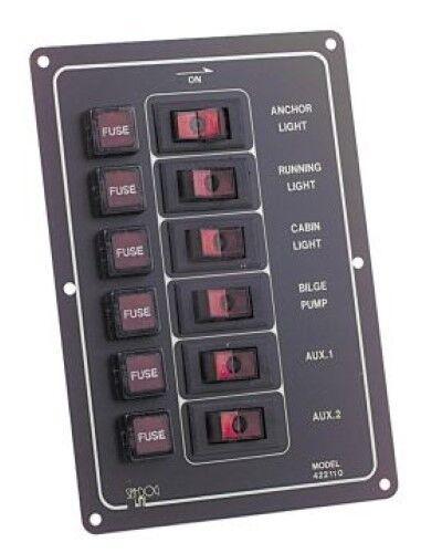 Horiziontal 6G Switch Panel 12v