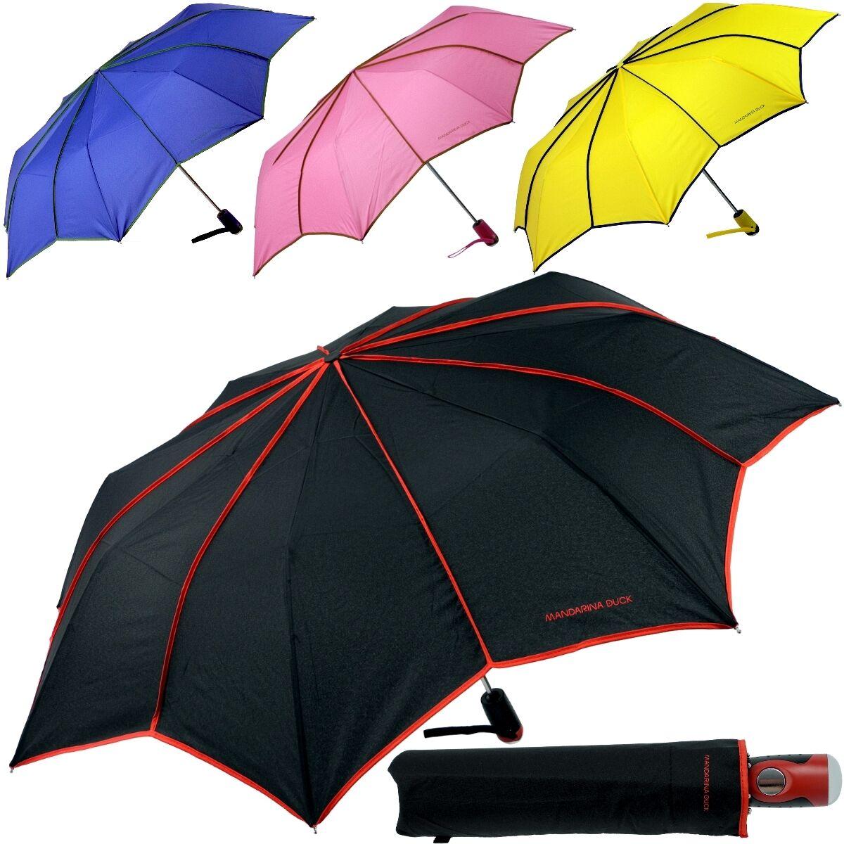 Ladies Umbrella Parasol Mandarina Duck Pocket Umbrella Sleeve click Automatic On
