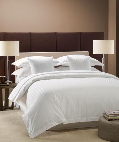 "1200 TC Egyptian Cotton White Striped Bed Sheet Set 15/"" Deep Pocket All Sizes"