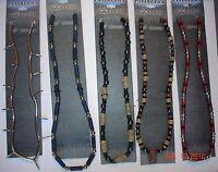 """3 """"panama Jack Extreme"""" Hemp, Wood, Leather Necklaces = Lowest $3 Price Anywhere"""