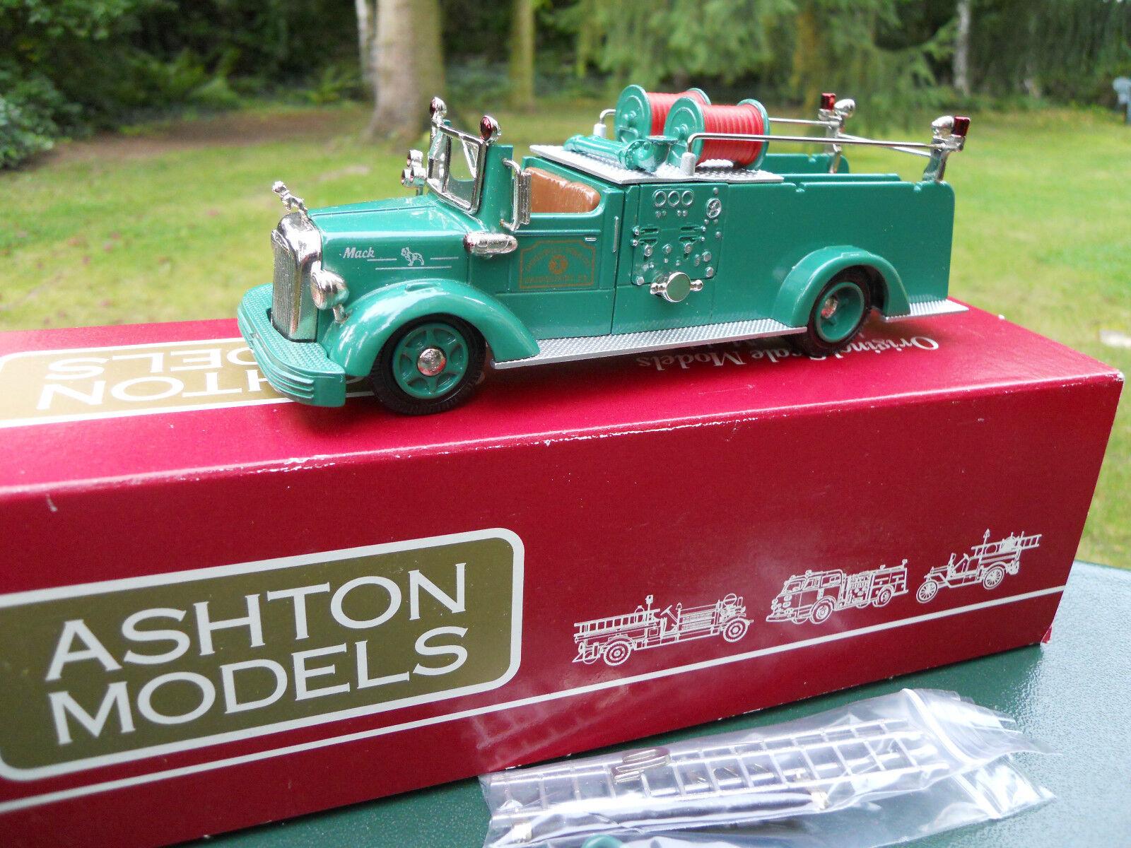 ASHTON MODELS 1/43 N° AH 53 MACK L    1949 PUMPER BRIDGEPORT. PA  MINT IN BOX | Couleur Rapide  89f096