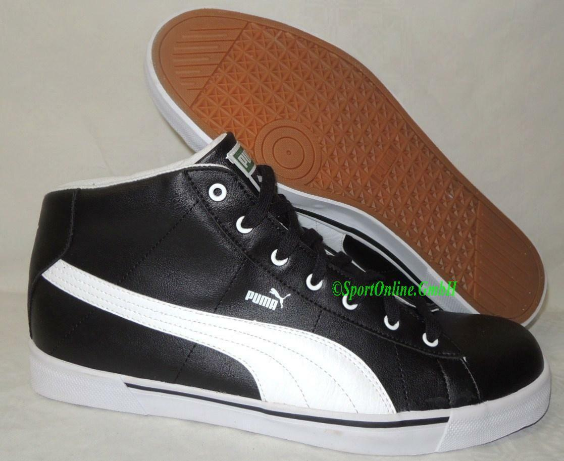 NEU Puma Benny Breaker Mid Herren Schuhe Boots Sneaker 356623-01 schwarz weiß