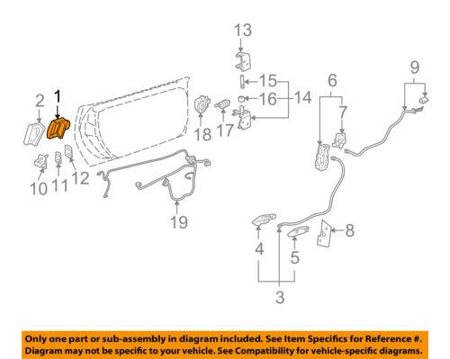 PUSH BUTTON  22751230 2005-2013 CORVETTE C6 OUTSIDE DOOR HANDLE RELEASE SWITCH