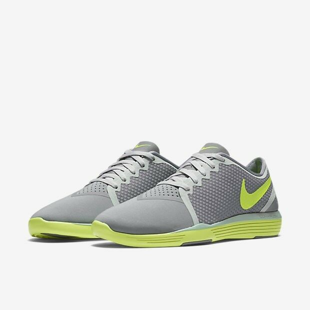 Nike Lunar Sculpt femmes Training Chaussures Stealth Pure Platinum Volt 818062 UK7.5