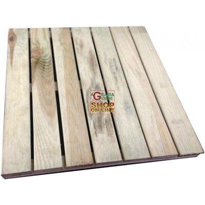 Pedana per doccia 50x50cm in legno di pino impregnata in autoclace